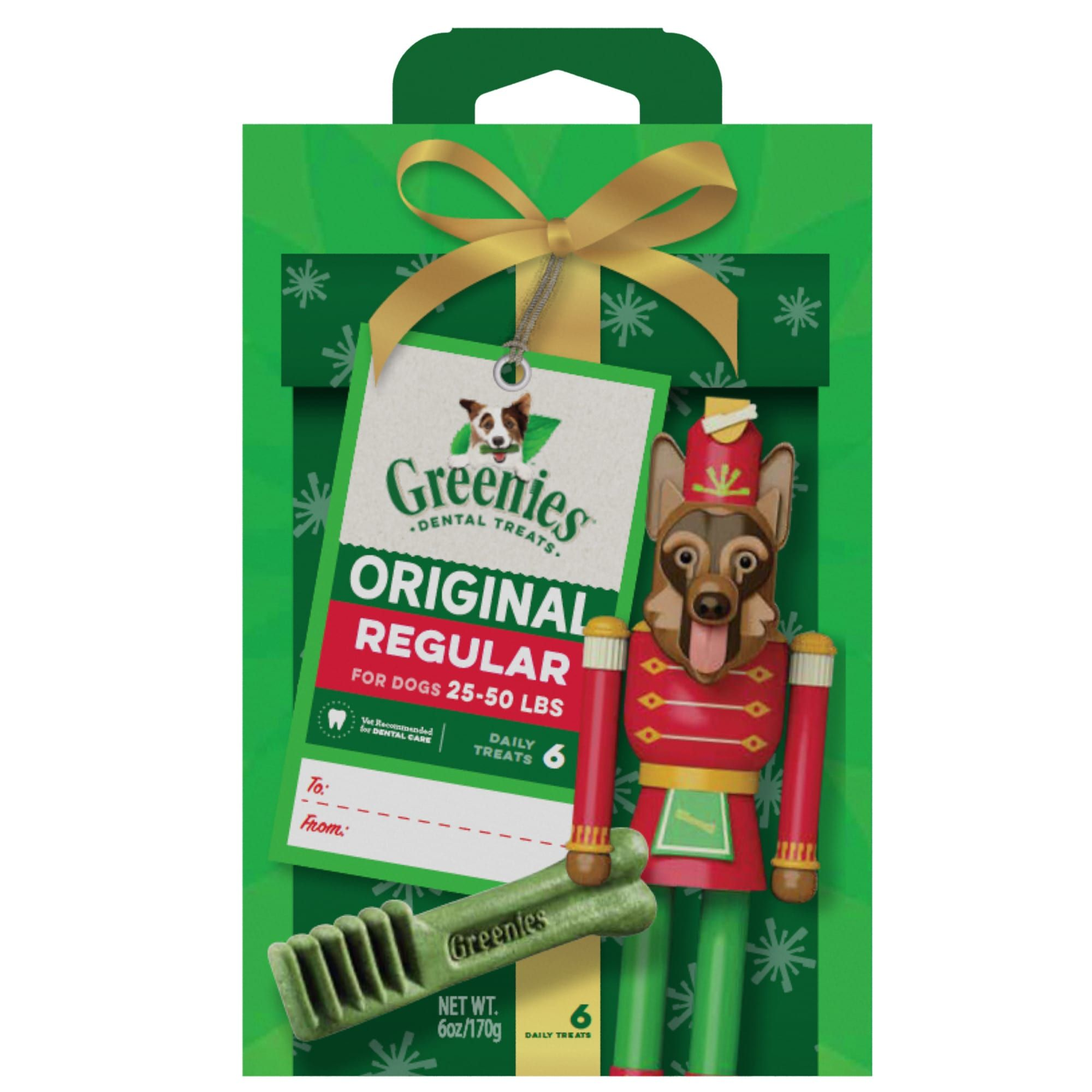 Greenies Original Regular Nutcracker Natural Holiday Dental Dog Chew 6 Oz Petco Holiday Dog Treats Dog Chews Greenies Dog Treats