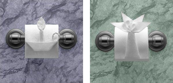Origami mit Toilettenpapier Toilettenpapier, Papier und