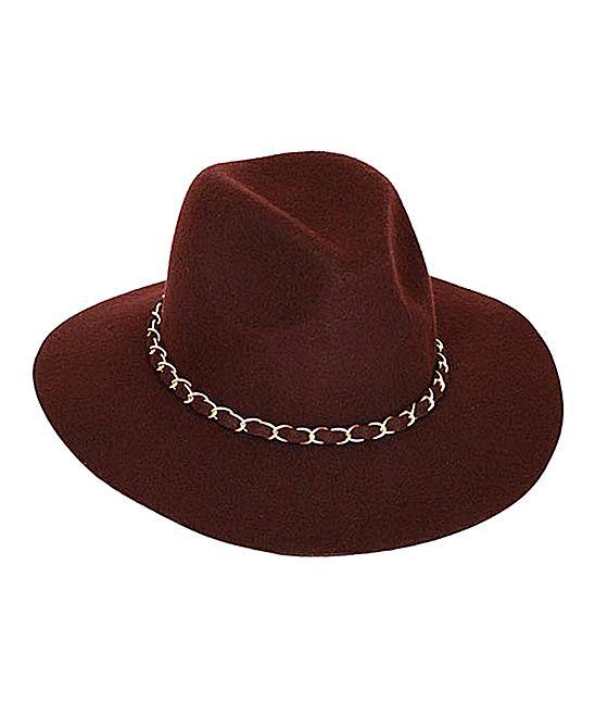 Brown Chain Rain Wool Cowboy Hat  8c35d0fe0ca