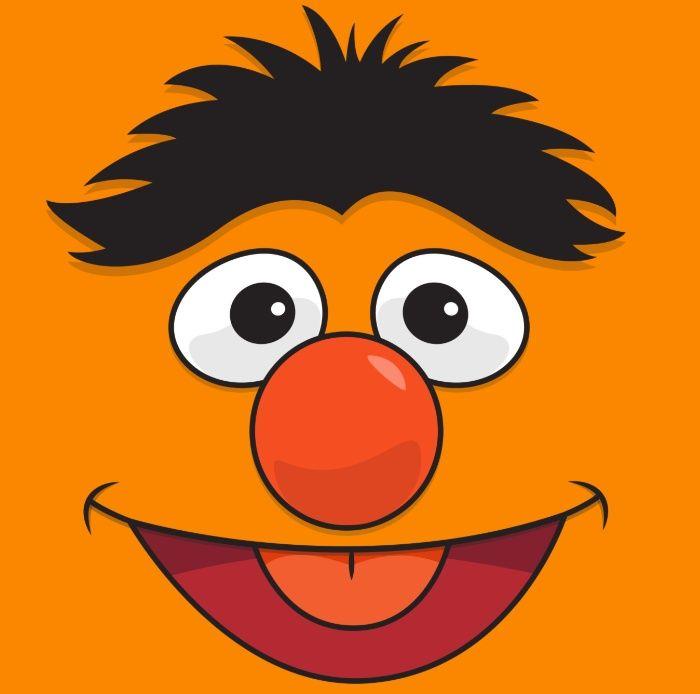 Sesame Street Bert Art Print by Jconner   Elmo wallpaper