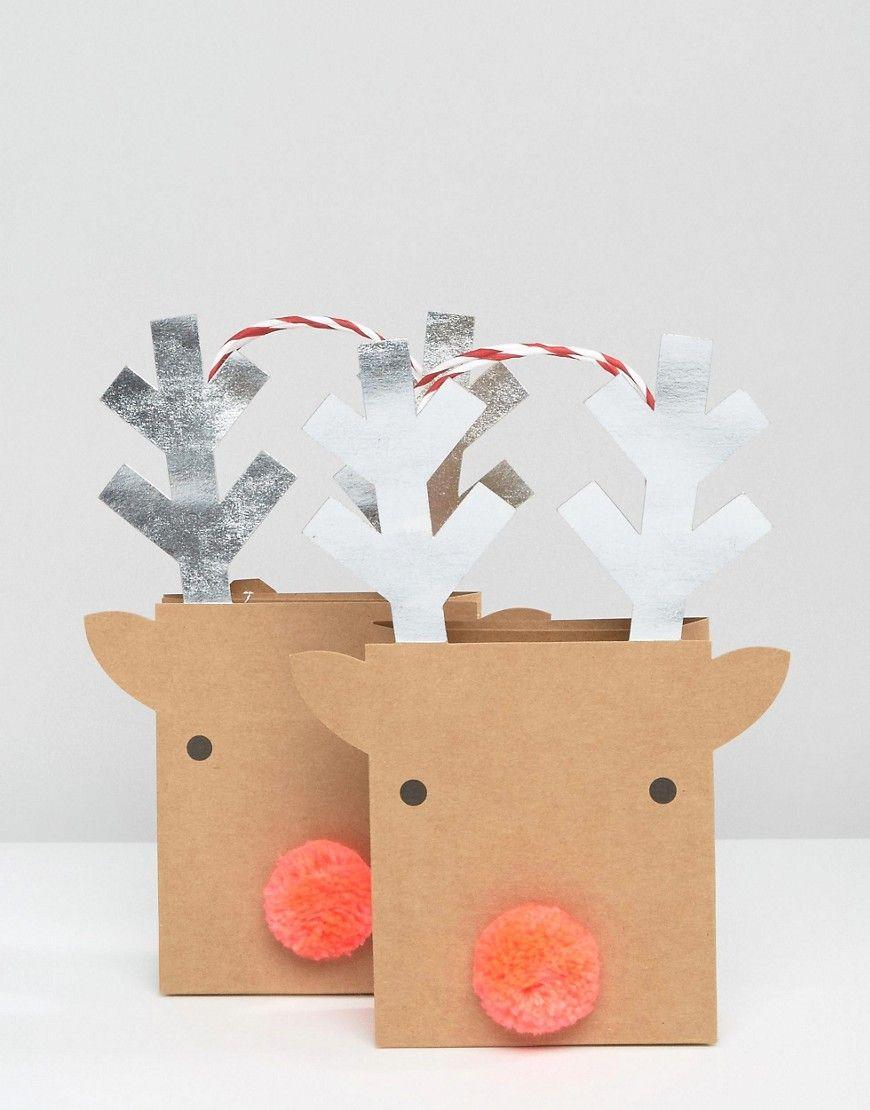 Meri Meri Reindeer Small Gift Bags