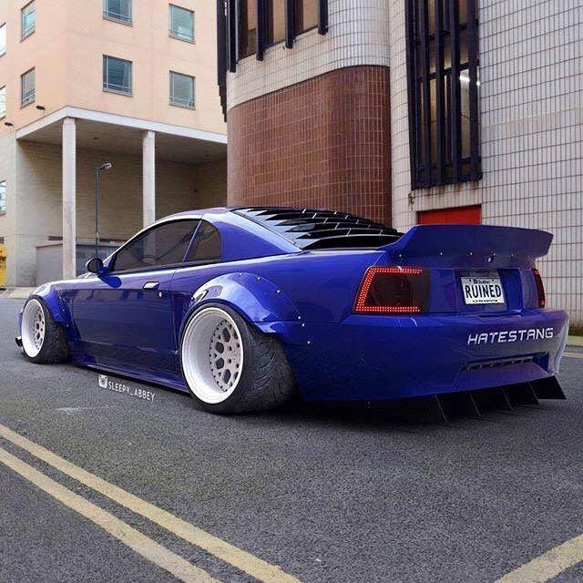 #Mustang #Ford #Heavily_Modified #Custom #Slammed #Stance