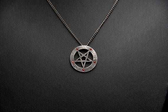 Sterling silver pentagram pendant inverted pentagram by me sterling silver pentagram pendant inverted pentagram aloadofball