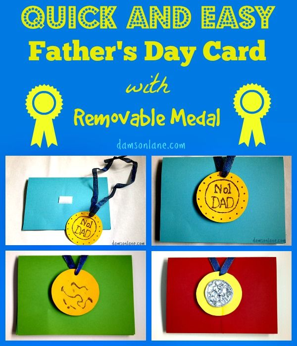 Easy Fathers Day Card With Images Fathers Day Fathers Day