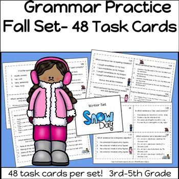 Grammar practice winter set 3rd 5th grade grammar review grammar practice winter set 3rd 5th grade sciox Images