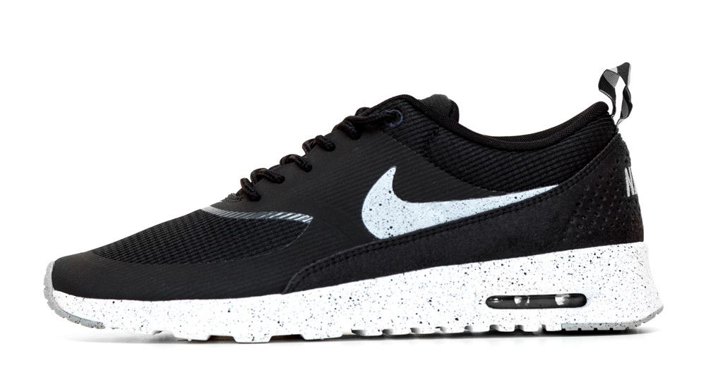 the best attitude 02ca6 9bef5 Nike Air Max Thea Running Shoes By Glitter Kicks - Black White Gray Black  Paint Speckle