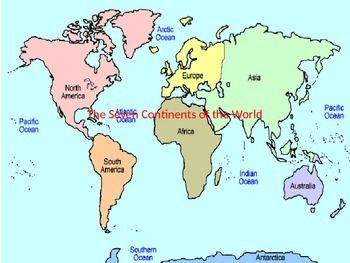 The Seven Continents of the World | SOCIAL STUDIES: Maps and Globes ...