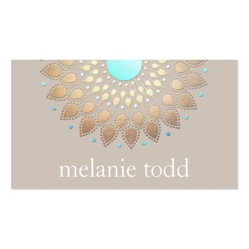 Gold lotus mandala natural health appointment business card gold lotus mandala natural health appointment business card fbccfo Choice Image