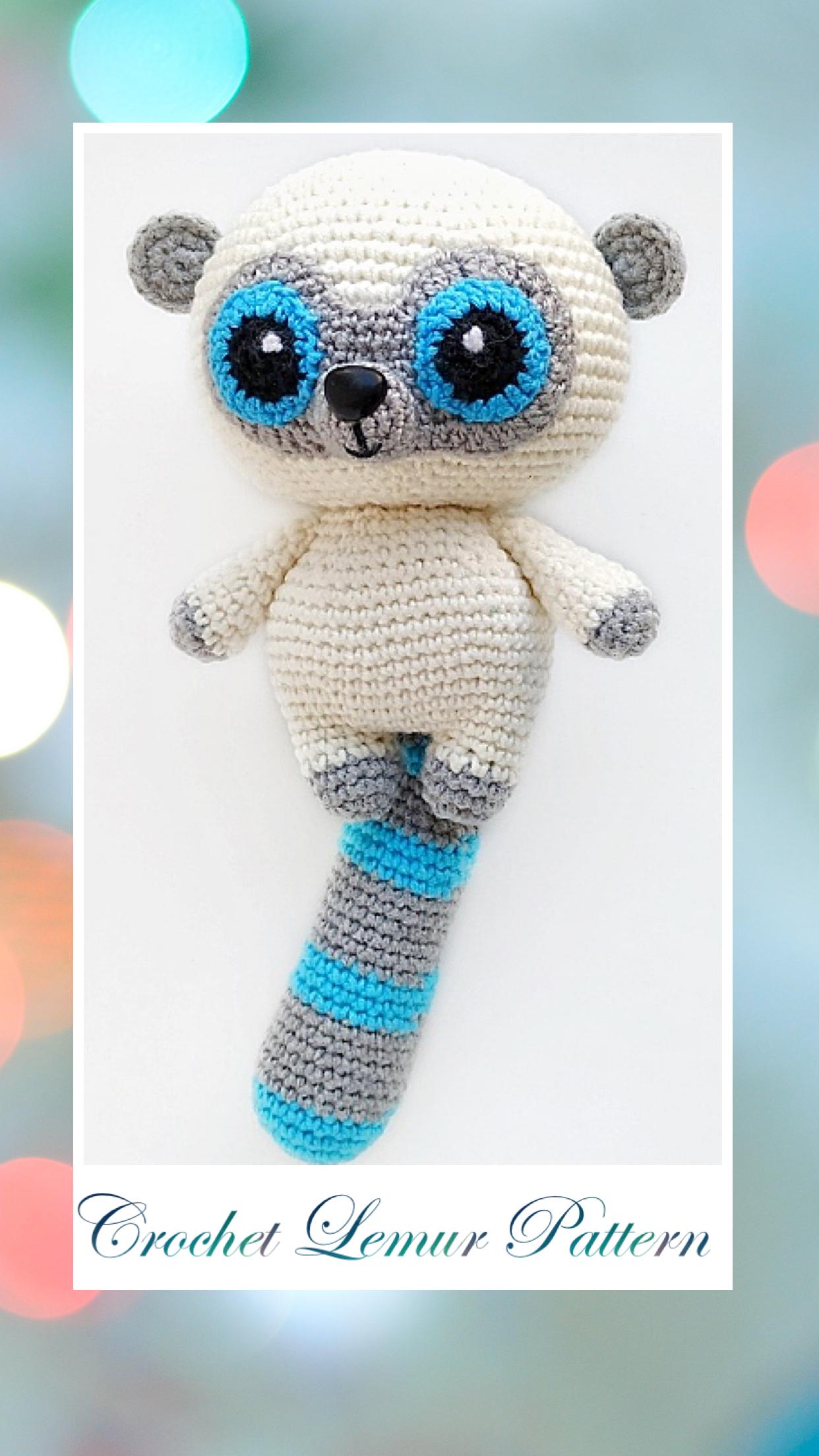 Lemur CROCHET PATTERN Amigurumi/Crochet Amigurumi pattern