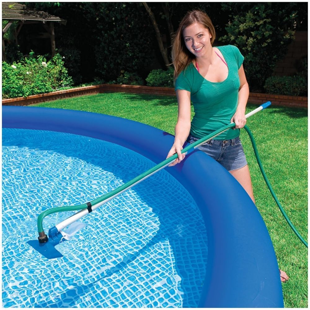 Above Ground Swimming Pool Maintenance Cleaning Kit Vacuum Skimmer Cleaner Intex Swimming