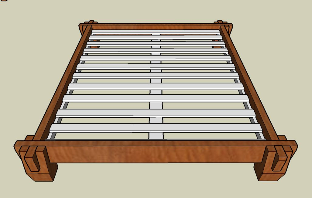 nice knock down bed frame japanese platform