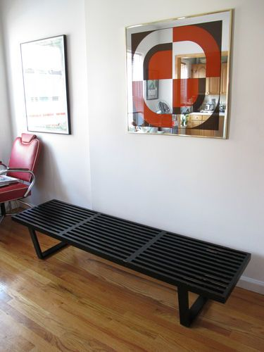 Fantastic George Nelson Platform Bench 72 Herman Miller Black Slat Gmtry Best Dining Table And Chair Ideas Images Gmtryco