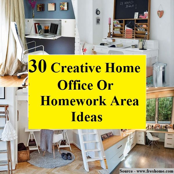 30 Creative Home Office Or Homework Area Ideas...For More