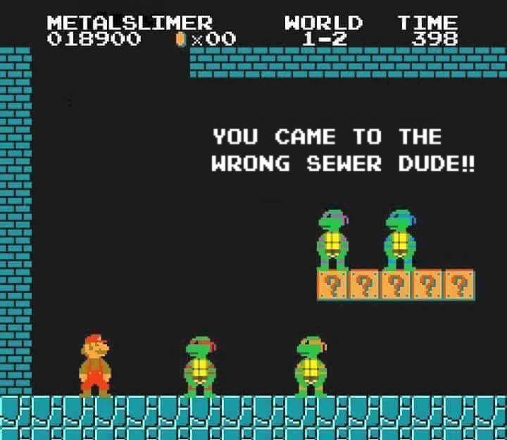 Super Mario meets the Ninja Turtles on his day off! #geek #supermario #gamer