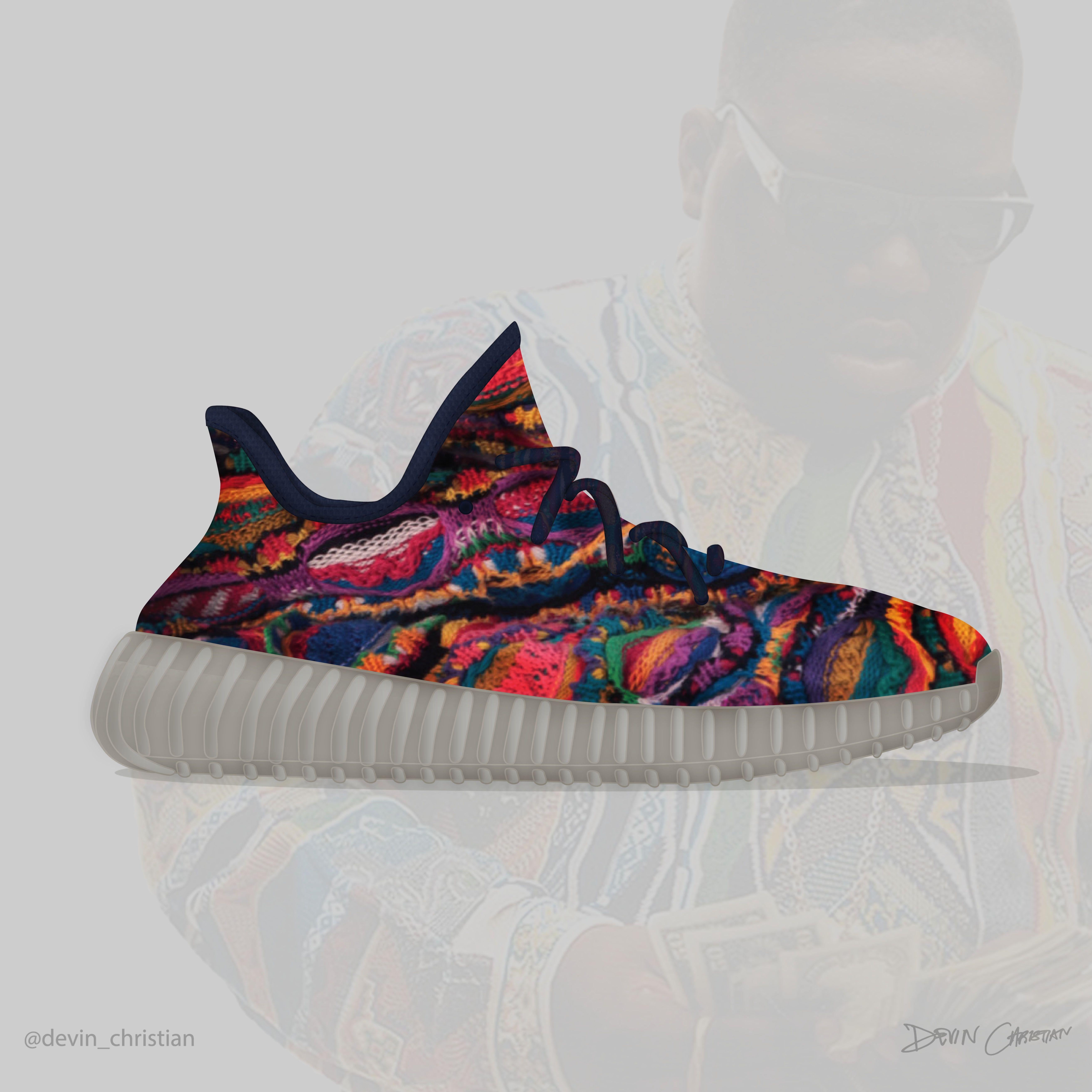 yeezy boost 350 x nike roshe run custom sneaker artist
