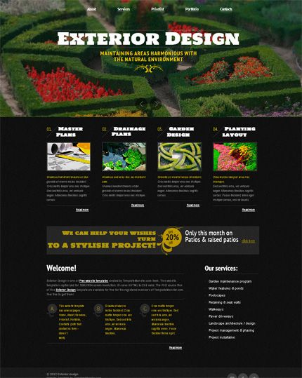 Free website template exterior design html httpwww free website template exterior design html httptemplatemonster pronofoot35fo Choice Image