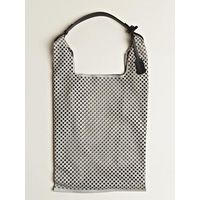 laser cut perforated market bag ++ jil sander