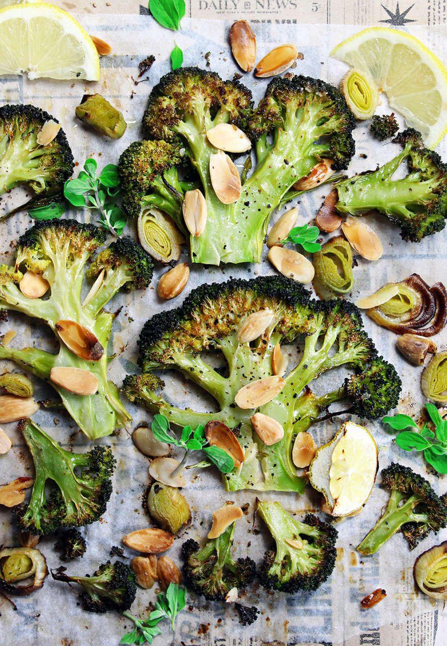 Broccoli arrosto alle mandorle | contorno semplice – Cucina Naturale