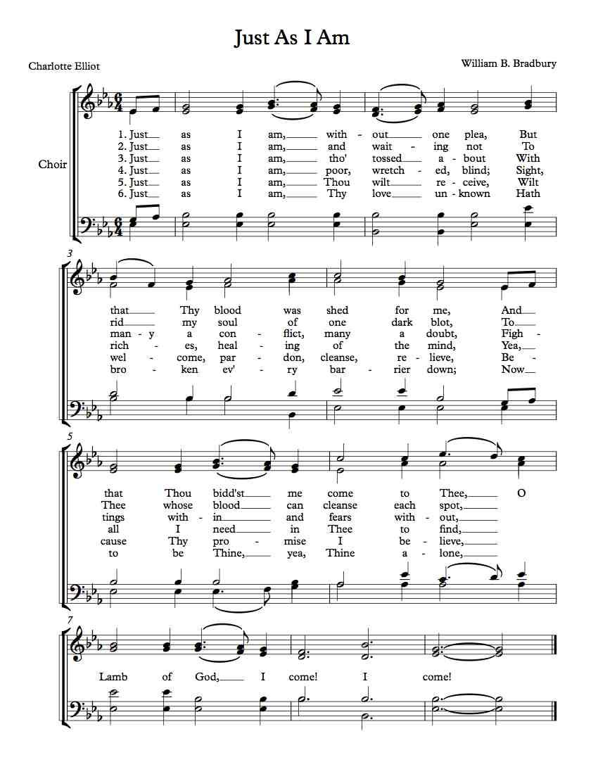 Free sheet music just as i am free sheet music pinterest free sheet music just as i am hexwebz Image collections