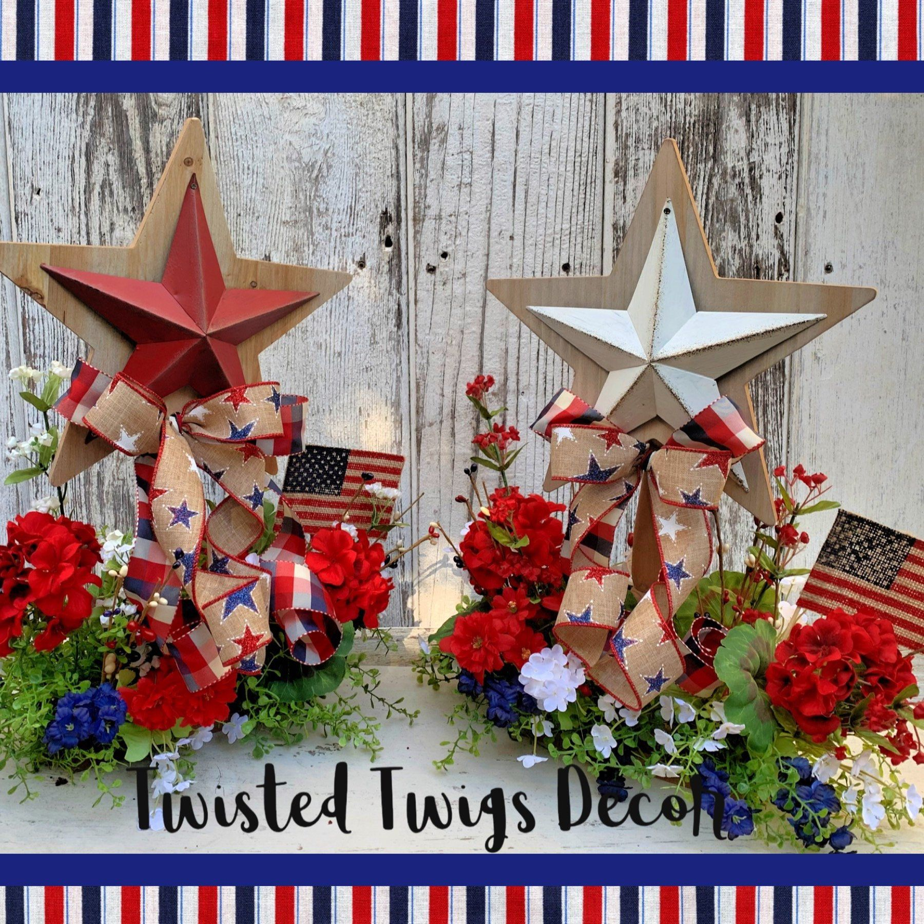 Rustic Patriotic Decor Patriotic Arrangement Fourth Of July Decoration Patriotic Cen Patriotic Centerpieces Patriotic Decorations Fourth Of July Decorations