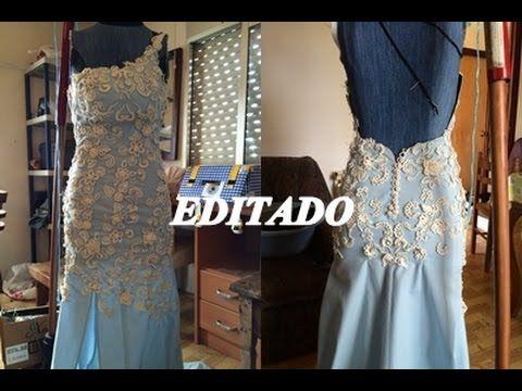 """CROCHET IRLANDES- Vestido de novia- Colocacion de Motivos """"EDITADO"""""""