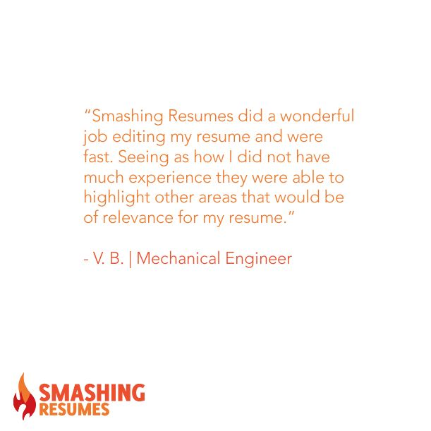 Smashing Resumes did a wonderful job editing my resume and were - review my resume