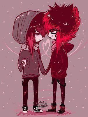 Yanimda Oldukca Etraf Ve Zaman Yhok Durmus Gibi Hersey Heykel Cute Emo Couples Emo Love Emo Art