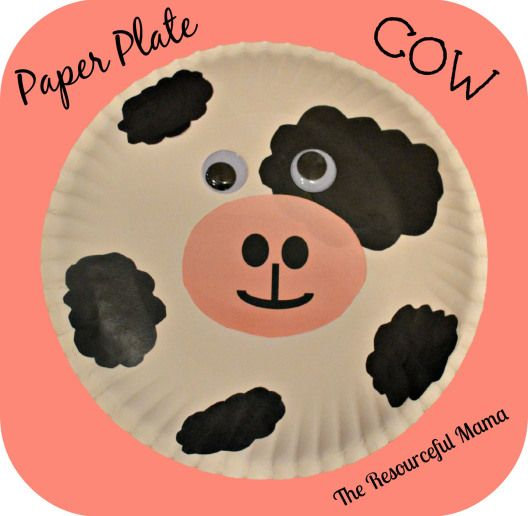 Paper Plate Cow Free Printable Cow Pattern With Images Cow