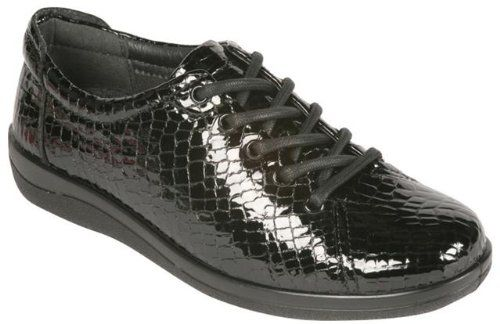Padders Casual Shoes Galaxy Leisure Wear - Black Croc - 8