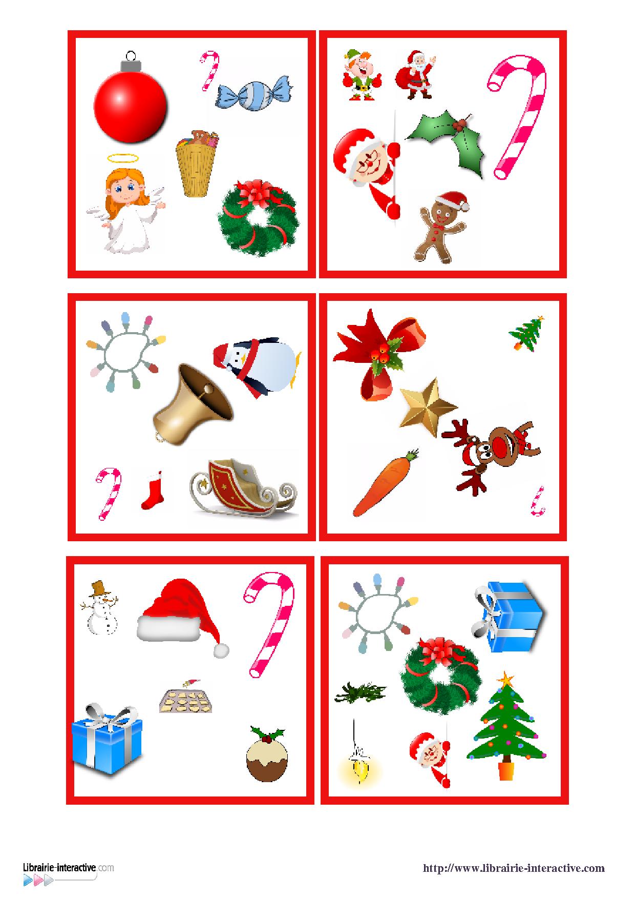 Une version du célèbre jeu de DOBBLE sur le thème de Noël.   Noël ...