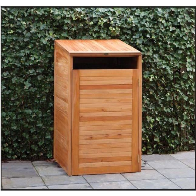 cache poubelles en bois dur achat vente cache. Black Bedroom Furniture Sets. Home Design Ideas