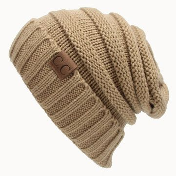 8a32b8938d9 Women Men Warm Soft Knitting Bonnet Hats Winter Outdoor Snow Leisure  Stripes Beanies Casual Cap