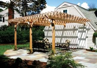 cedar trellis, attached to home - Google Search