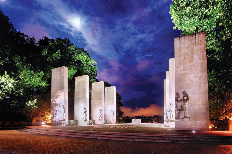 War Memorial on the campus of Virginia Tech. Virginia Tech