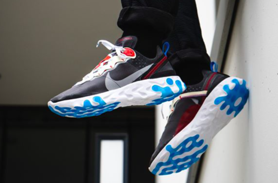 7d19fb436e25 Now Available  Nike React Element 87 Dark Grey The Nike React Element 87 is  one