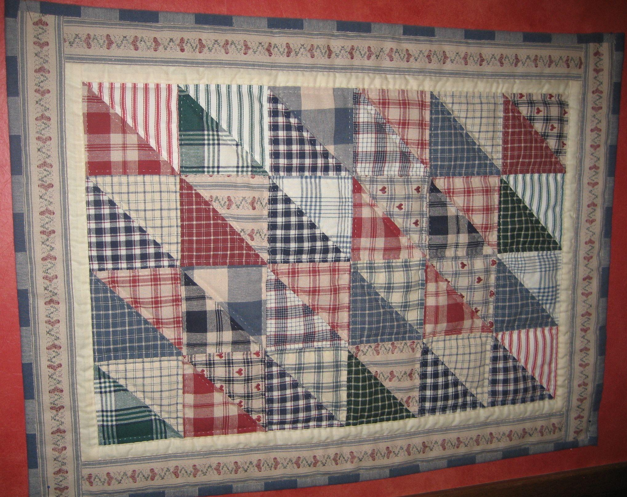 Small handmade homespun quilt Quilts and Fabric Pinterest