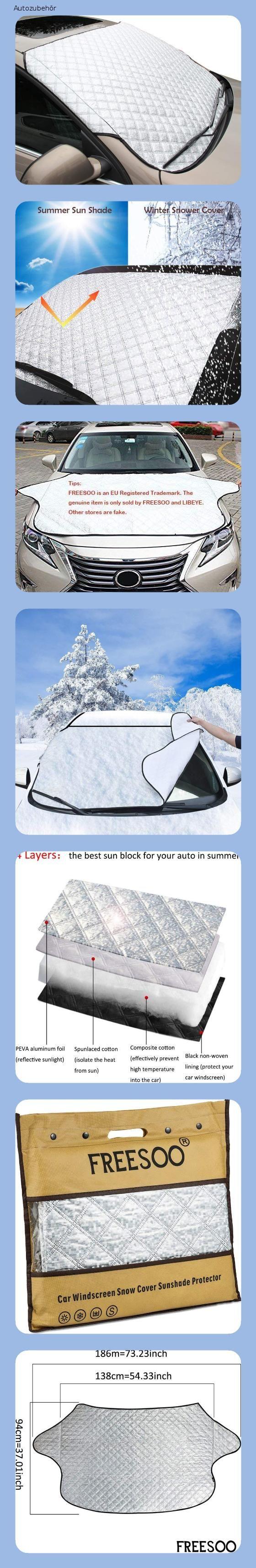 Freesoo Autoscheibenabdeckung Frontscheibenabdeckung Schnee