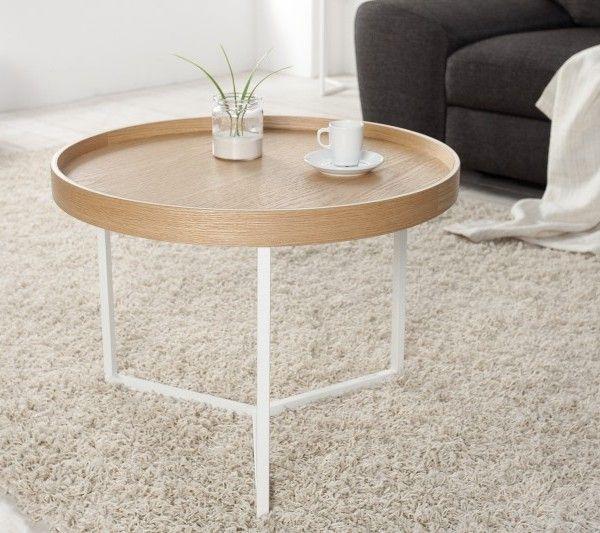 Konferenčný stolík Cupid biela prírodná