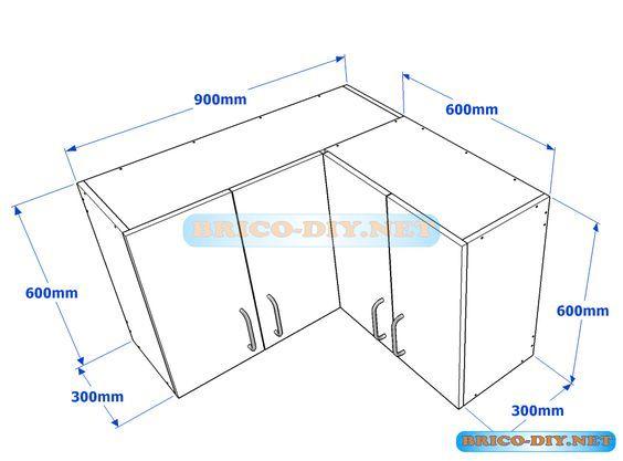 Muebles de cocina plano de alacena de melamina esquinera for Definicion de cocina