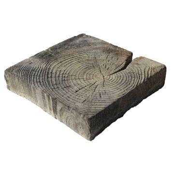 Pavé Stonewood Béton imitation bois 22.5x22.5cm, ép.50mm ...