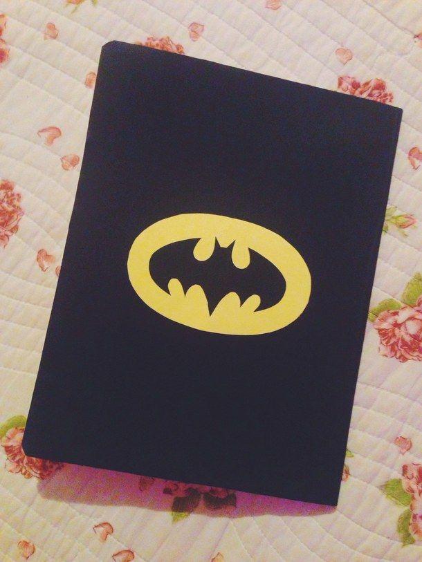 back to school, batman, black, black&yellow, bts, diy, notebook, yellow, backtoschool, blanck and yellow
