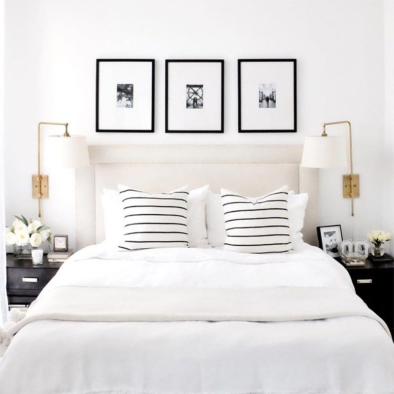 Elegant Black And White Bedroom Designs Boys Bedroom Lighting Ideas Bedroom Colors For Couples Bedroom Arrangement Ideas Pictures: Get The Look: Elegant Black And White Bedroom