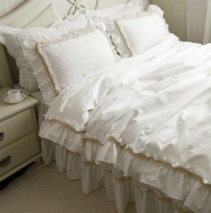 Fadfay Home Textile White Bedding White Luxury Bedding Set White