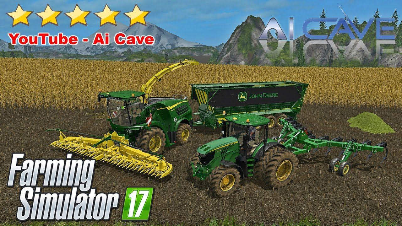 Farming Simulator 17 JOHN DEERE Mods 6250R Tractor, 8000 Forager