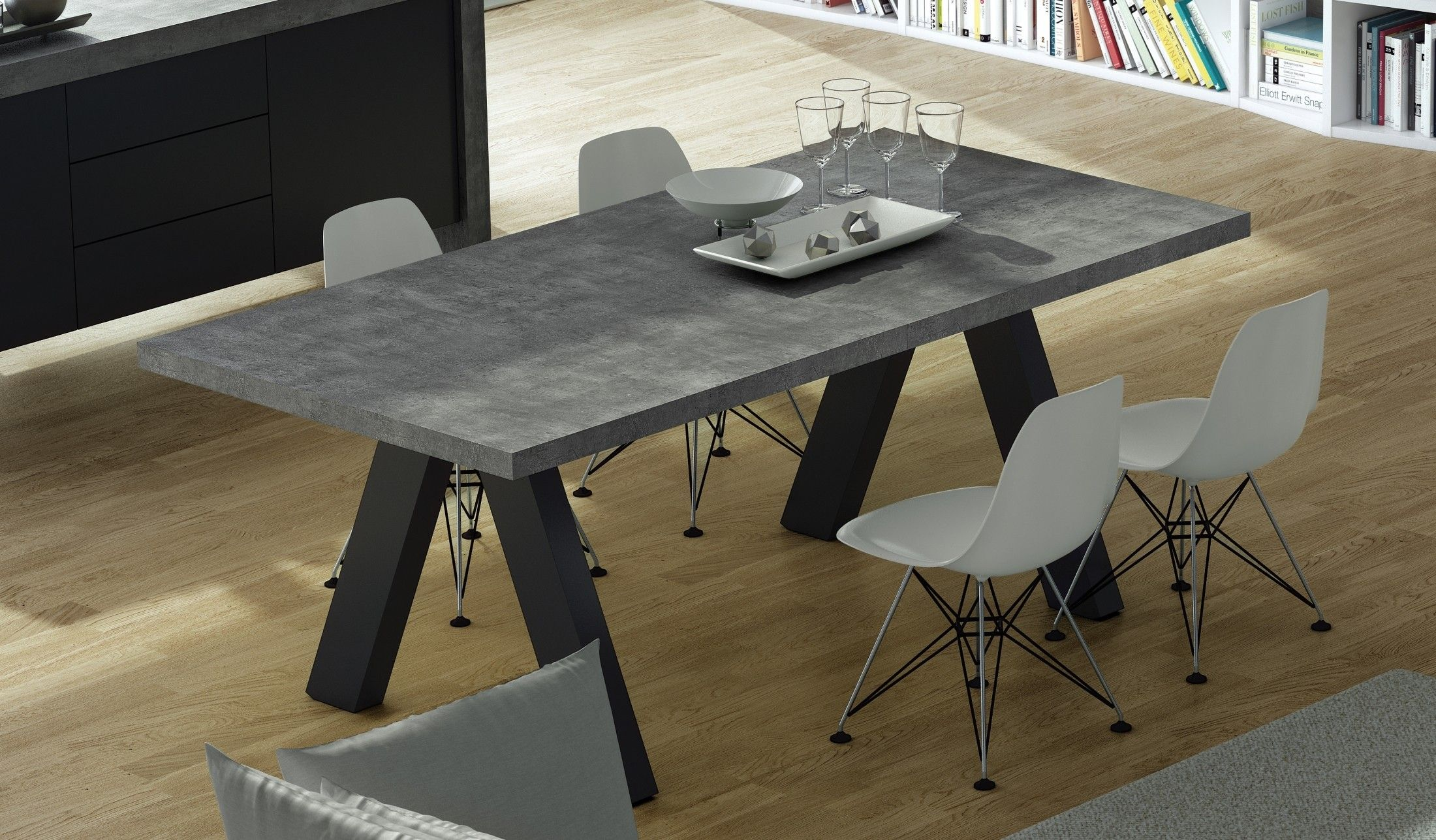 Concrete Dining Table Apex Concrete Extendable Dining Work