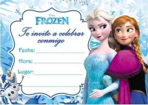 Invitacion De Frozen Para Editar Invitaciones De