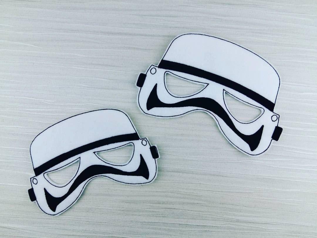 Galaxy Star Wars Trooper Felt Mask - Storm Trooper - Cosplay by AHeartlyCraft on Etsy