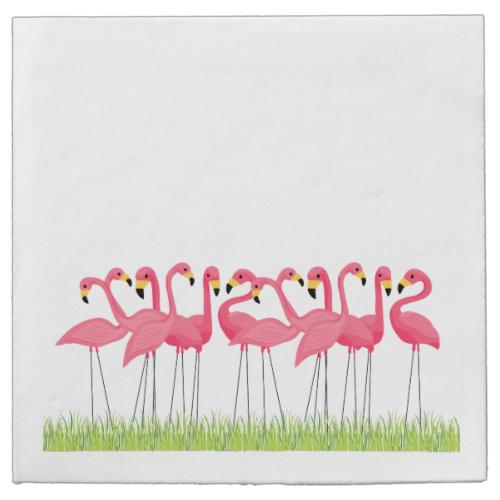 Cuban Pink Flamingos Paper Napkins