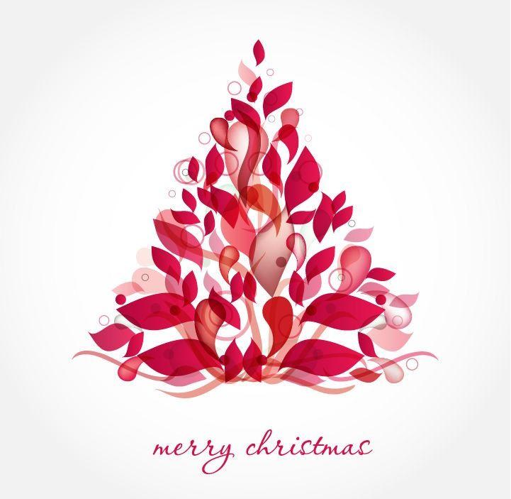 christmas art | abstract design christmas tree vector art | free