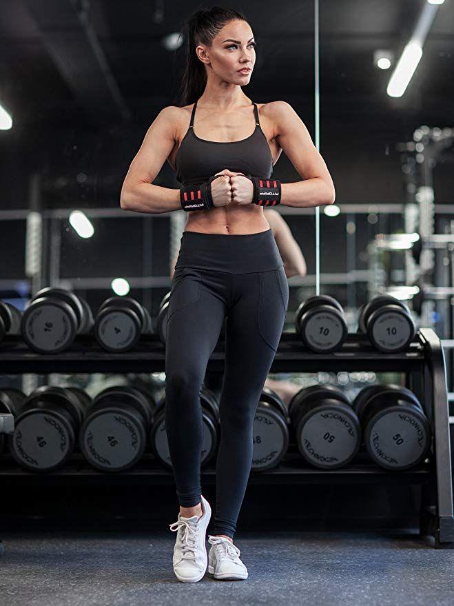 Fitgriff Handgelenk Bandagen [Wrist Wraps] 45 cm Handgelenkbandage für Fitness, Bodybuilding, Kraftsport & Crossfit - für Frauen und Männer - 2